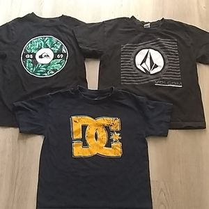 Volcom, Quicksilver, DC shirt
